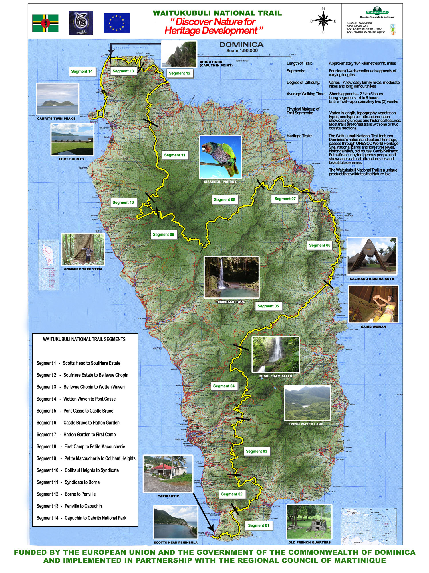 Dominica's Waitukubuli National Trail ( WNT ). Learn about ... on